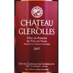 Oeil-de-Perdrix, Château de Glerolles (étiquette)